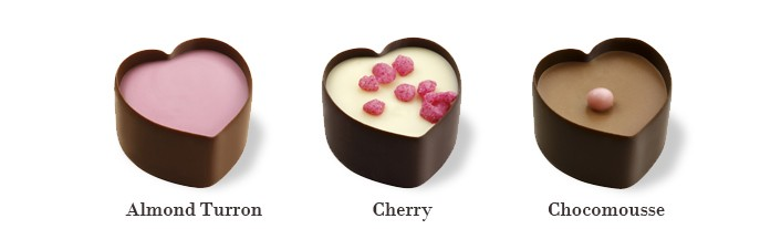 "Noble Chocolates Herzpralinen ""Sweet Romance"""